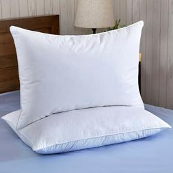 Puredown® Set of 2 White Goose Down Feather Bed Pillows Sin