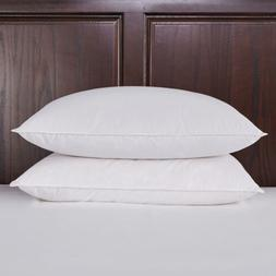 Puredown Soft Waterfowl Feather Down Fiber Bed Pillows Set o