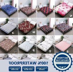 Waterproof Mattress Protector Cover Fitted Sheet Hypoallerge