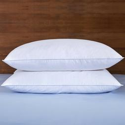 Puredown® 2 Pack White Goose Down Feather Bed Pillows 233TC