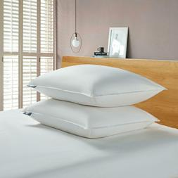 Serta White Goose Feather And Down Fiber Back Sleeper Pillow