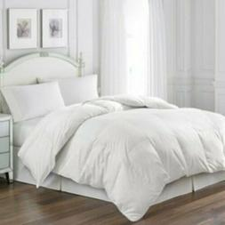 Blue Ridge White Goose Feather Comforter and Quilted Pillow