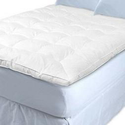 White Goose Feather and Down Baffle Box Featherbed - Twin Si